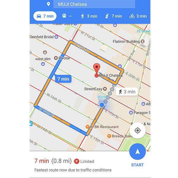 Con esta nueva actualización podrás conocer de antemano la disponibilidad de estacionamiento. (Foto: Mashable/Google Maps)