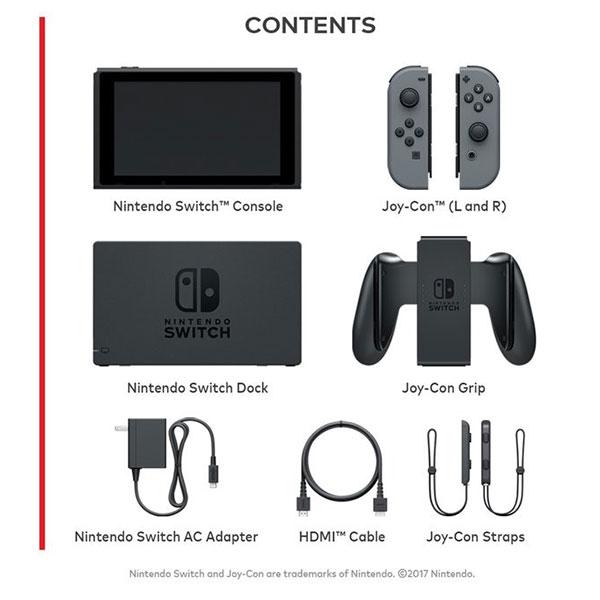 Contenidos de la caja del Nintendo Switch. (Foto: Nintendo)