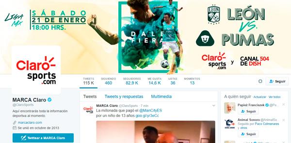 En Claro Sports mantente al tanto de toda la información deportiva, al momento. (Foto: Twitter)