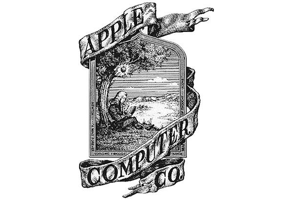 El primer logo de Apple estuvo protagonizado por Isaac Newton. (Foto: Pinterest)
