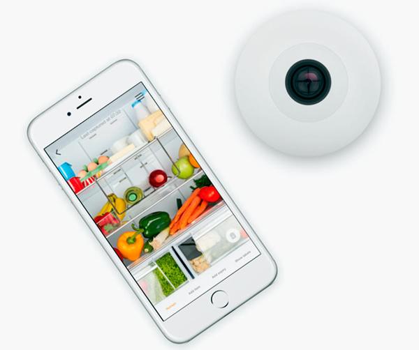 Esta cámara te ayuda a ver, desde tu celular, los alimentos que hay en el refrigerador. (Foto: smarter.am)