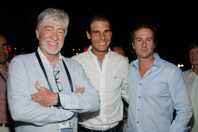 Alejandro Burillo, Rafael Nadal y Javier Braun