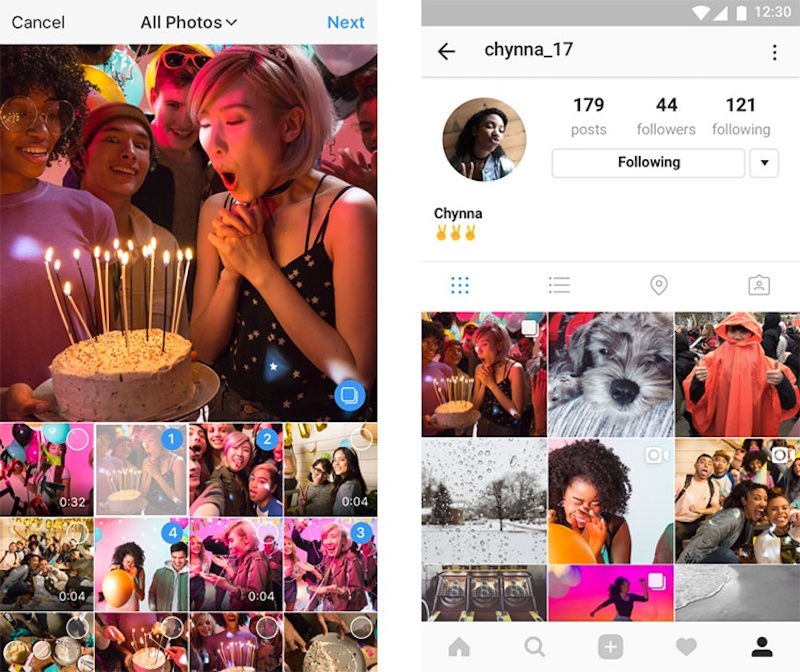 Instagram álbumes