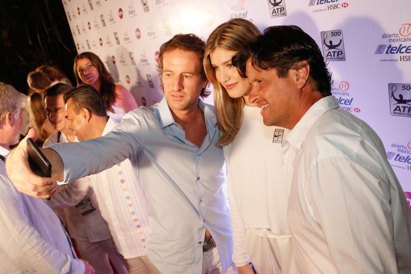 Javier Braun, Eugenie Bouchard y Geoffrey Fernandez