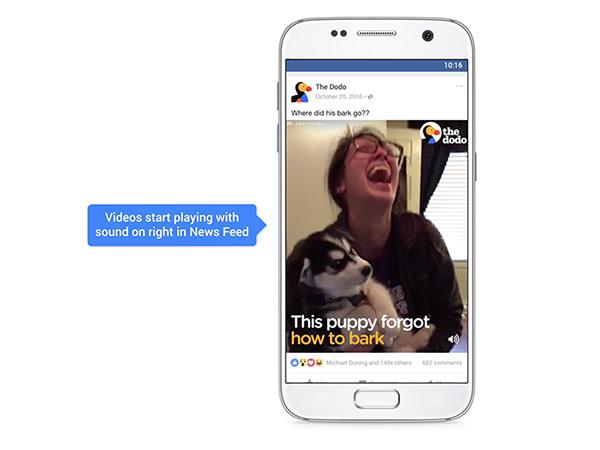 La reproducción automática de audio afecta a la app y a la versión de escritorio. (Foto: Facebook)