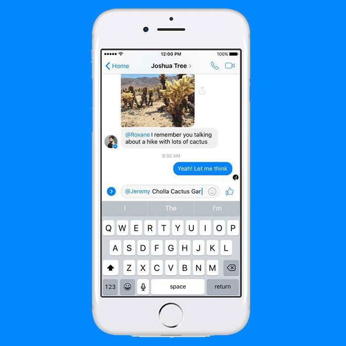 A través de un @ y el nombre del usuario al que le quieres hacer llegar tu mensaje, es como funcionan las nuevas menciones dentro de Facebook Messenger. (Foto: Facebook)