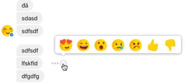 reacciones messenger