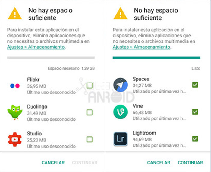 Google Play eliminar-apps