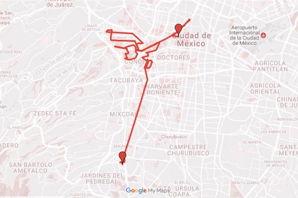 ruta maratón CDMX 2017