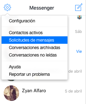 Messenger mensajes
