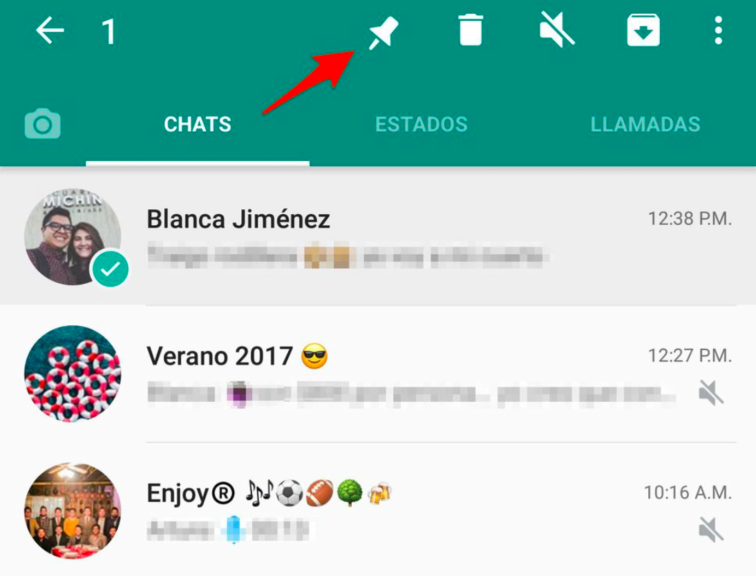 anclar chats WhatsApp