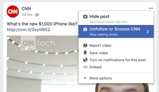 Facebook Silenciar
