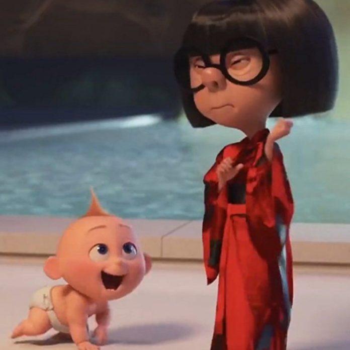 Jack-Jack y Edna Moda en Los Increíbles