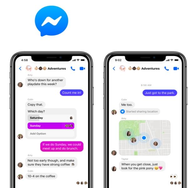 última actualización de Messenger