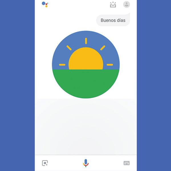 Buenos días de Google Assitant