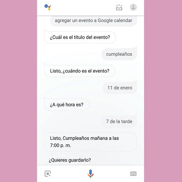 Google calendar en google assistant