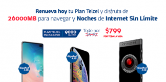¡Renueva tu Plan Max Sin Límite 9000 Platino y disfruta de las Noches de Internet Sin Límite!