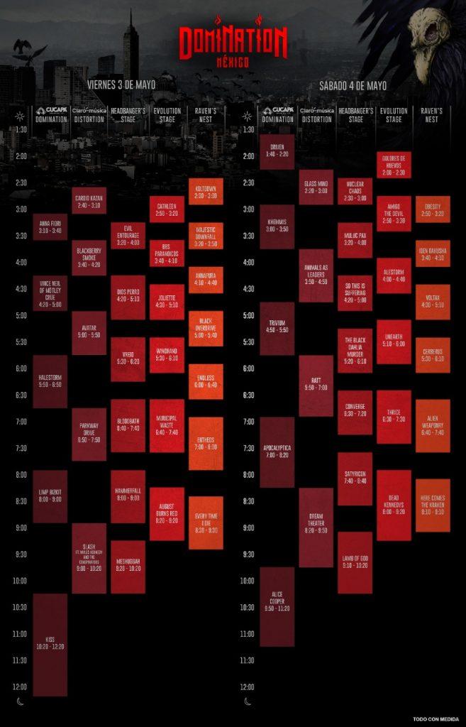 horarios de domination