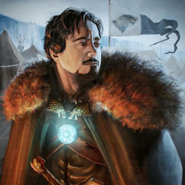 ironman de avengers en game of thrones