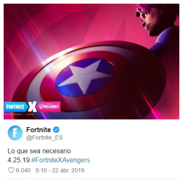 Nueva colaboración Fortnite y Avengers.