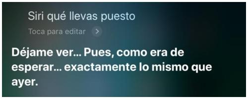 Preguntas interesantes a Siri