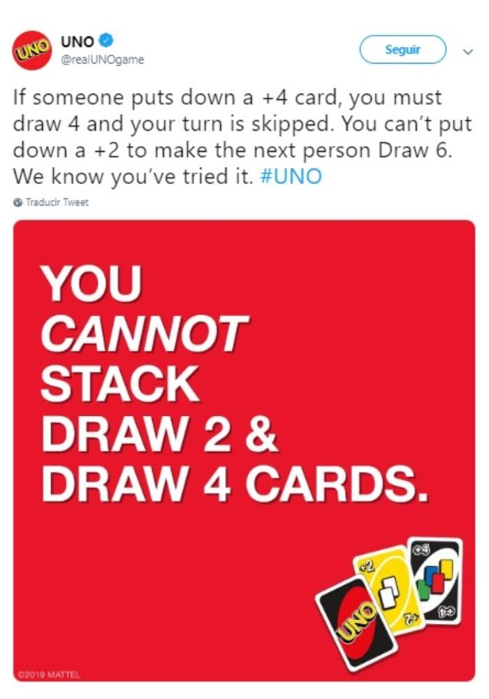 Reglas del juego UNO