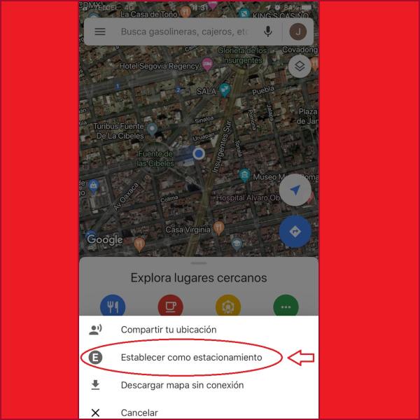 google maps donde estacionaste el auto