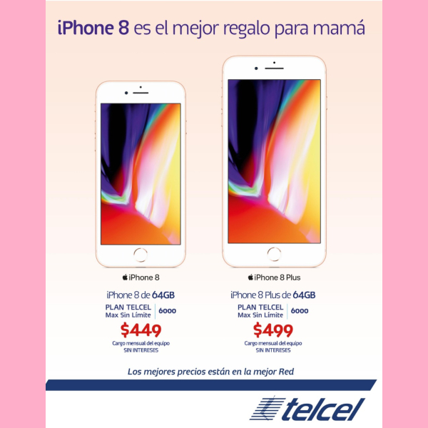 iphone 8 telcel