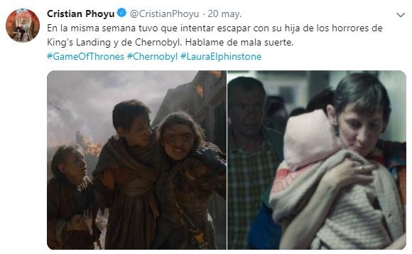 la mujer de chernobyl y game of thrones