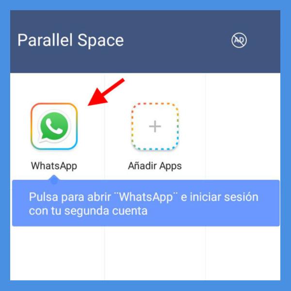parallel space dos sesiones de WhatsApp y Facebook