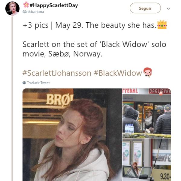 Scarlett Johansson ya inició el rodaje de Black Widow