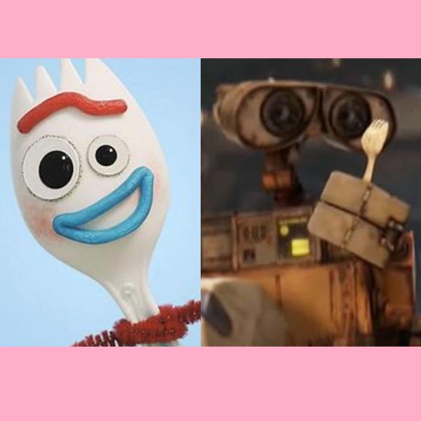 Forky fue descubierto en Wall-E