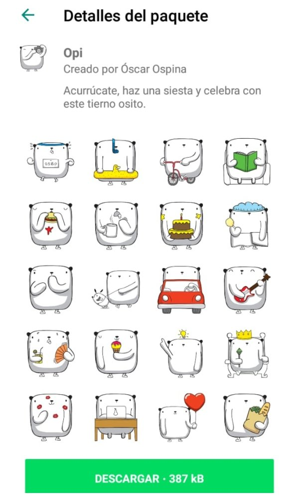 Nuevos stickers WhatsApp