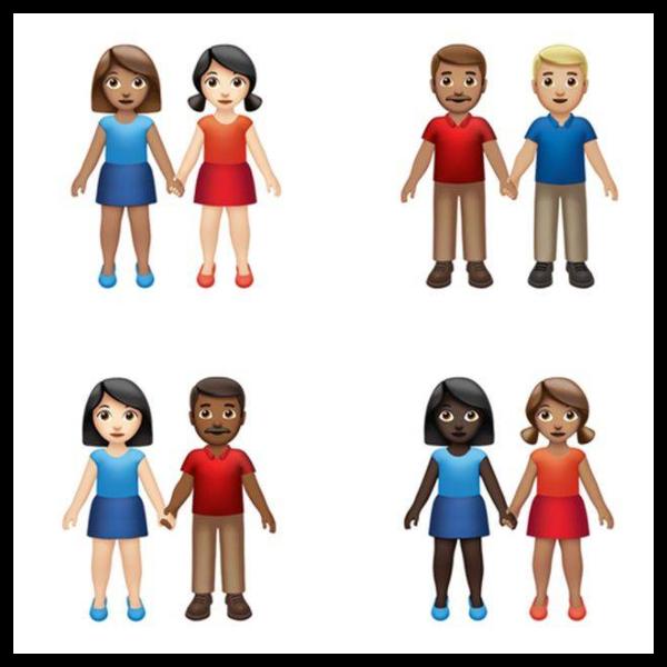 emojis tomados de la mano