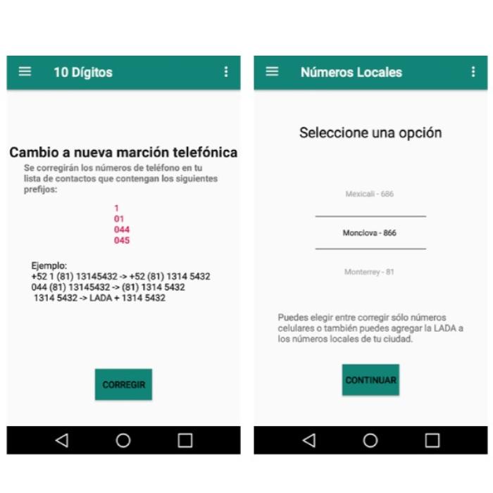 10 digitos Android nueva marcación