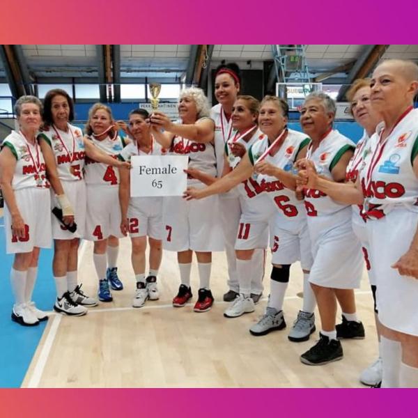 abuelitas campeonas de basquetbol