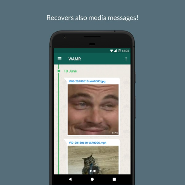 WAMR para ver mensajes eliminados de WhatsApp