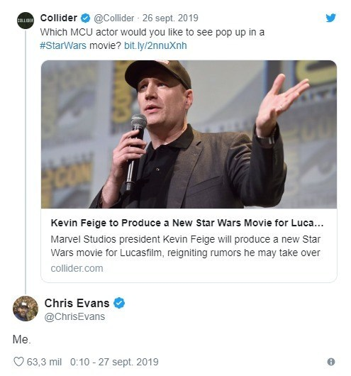 Chris Evans Star Wars