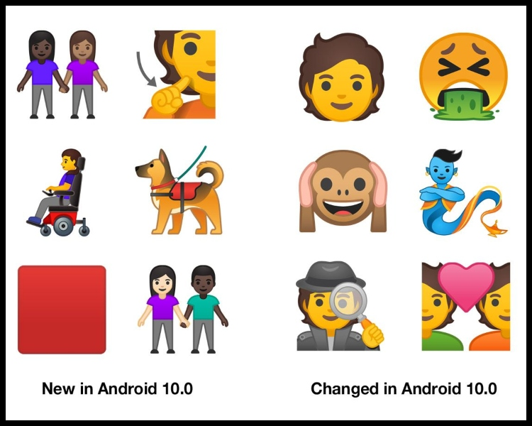 Emojis Android 10