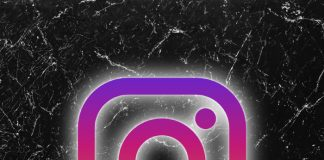 Instagram logo fondo negro