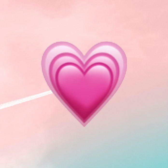 emoji corazón rosa