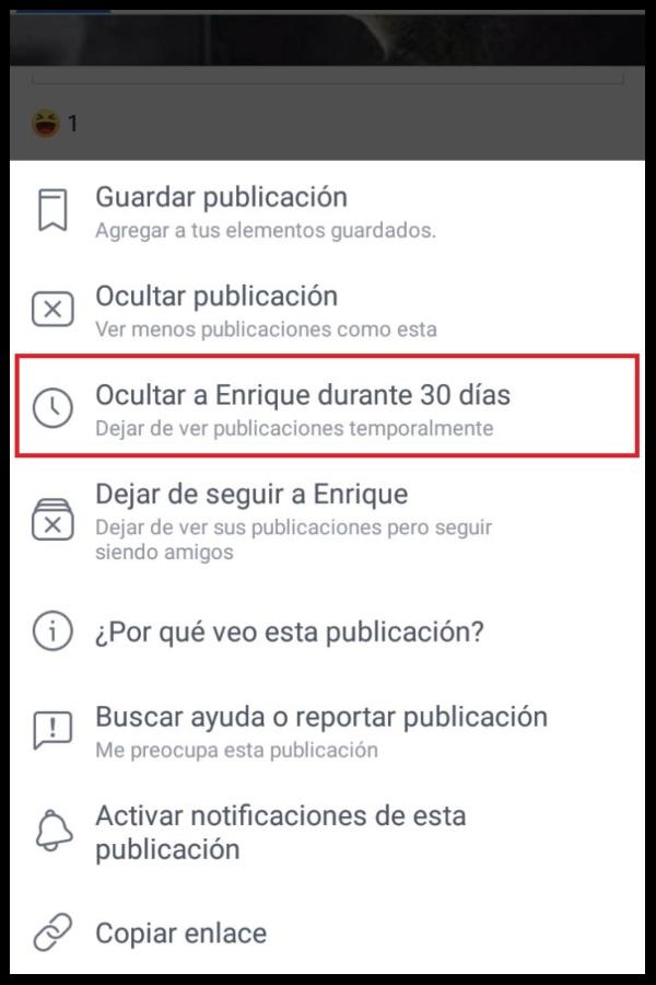 Cómo silenciar a alguien en Facebook
