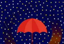 Lluvia de estrellas octubre otoño