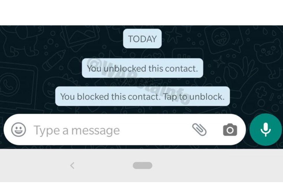 WhatsApp te avisará cuando hayas bloqueado a alguien