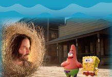 Keanu Reeves y Bob Esponja
