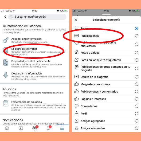 funciones ocultas de facebook