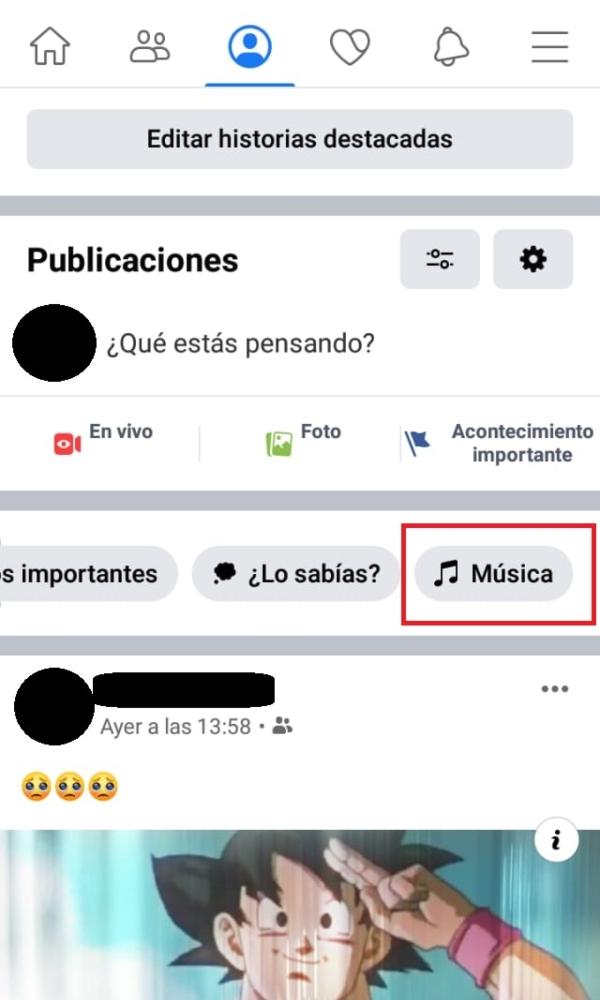 Música Facebook