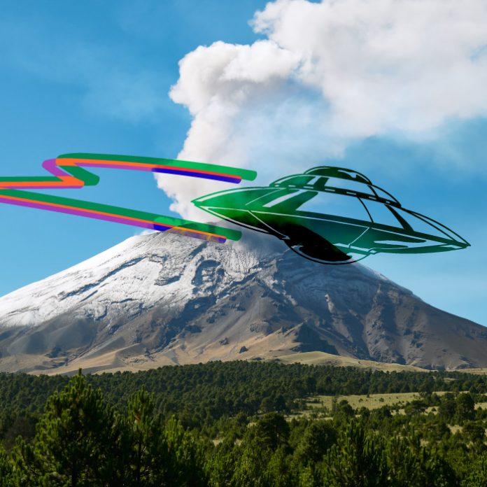 OVNI volcán Popocatépetl