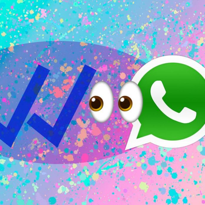 WhatsApp palomitas azules