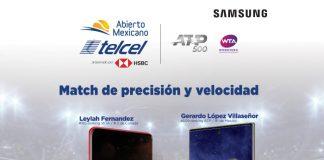 abierto mexicano de tenis con samsung galaxy